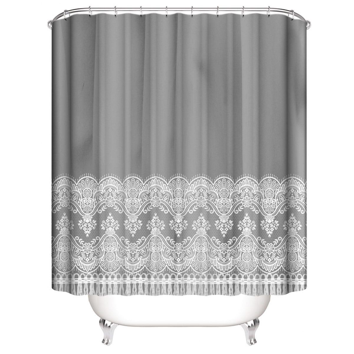 Flower Print Shower Curtain
