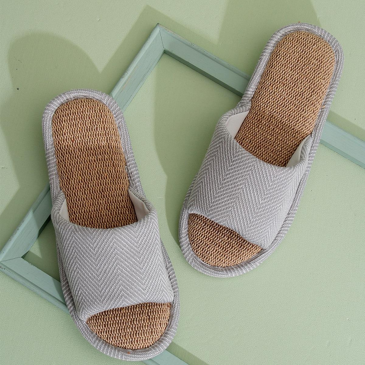 SHEIN Chevron strepen Heren slippers