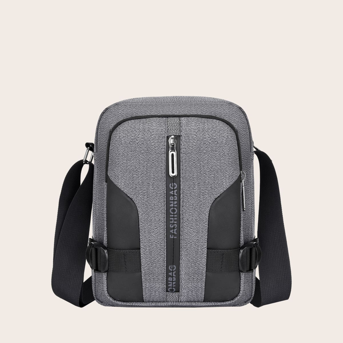 SHEIN Verstelbaar Kleurblok Crossbody tas voor man