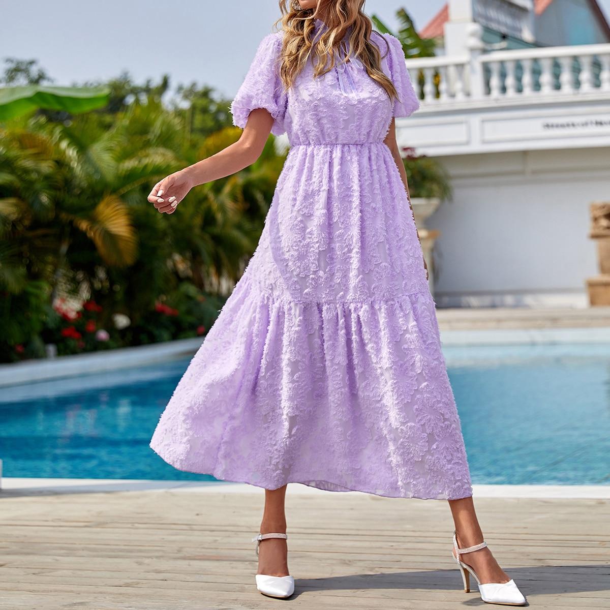 Платье с воротником-бантом SheIn swdress01210310924