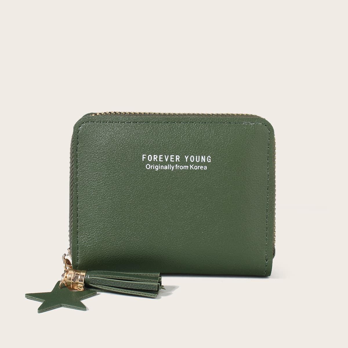 SHEIN Kwast decor rits rond portemonnee