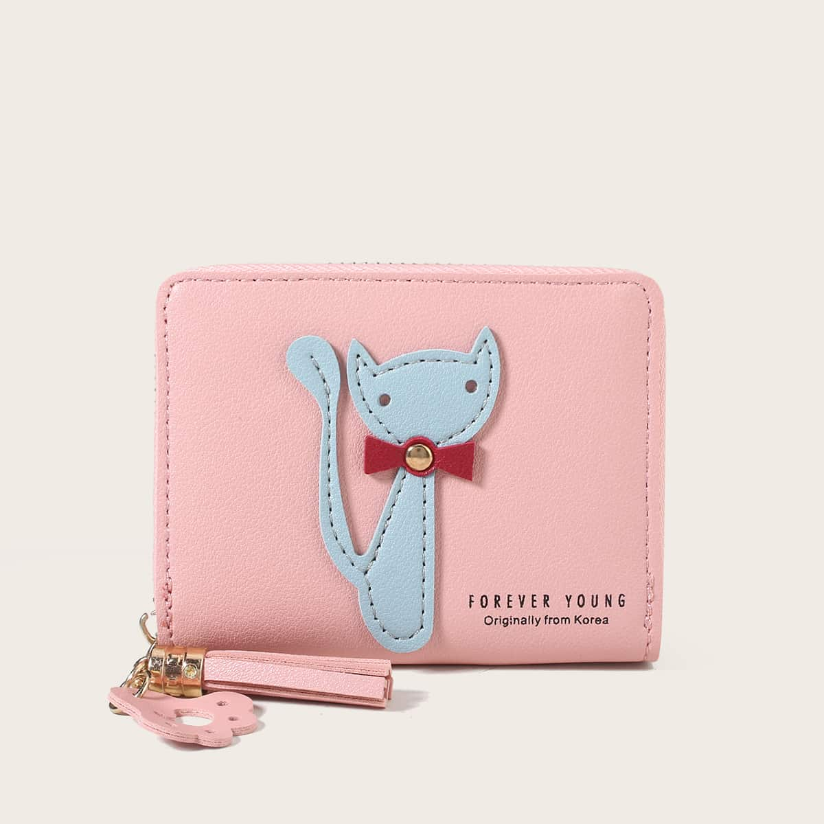 SHEIN Cartoon kat appliques portemonnee