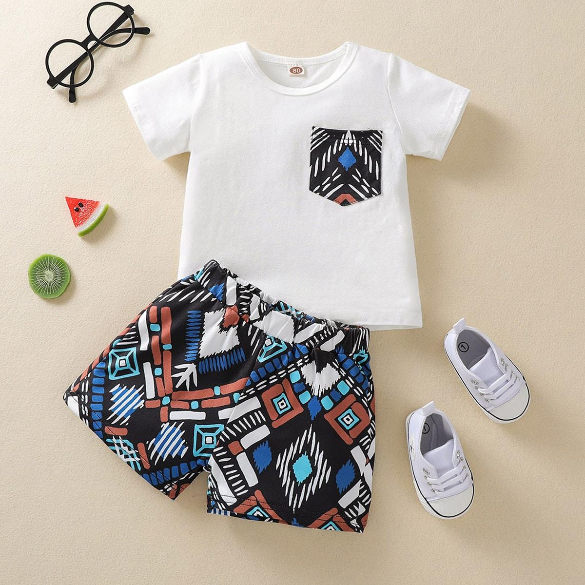SHEIN Boho Geometrisch Baby-setjes Zak
