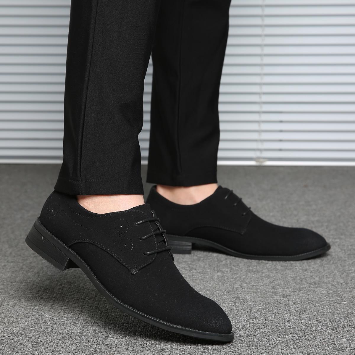 SHEIN Heren minimalistische veterschoenen aan de voorkant