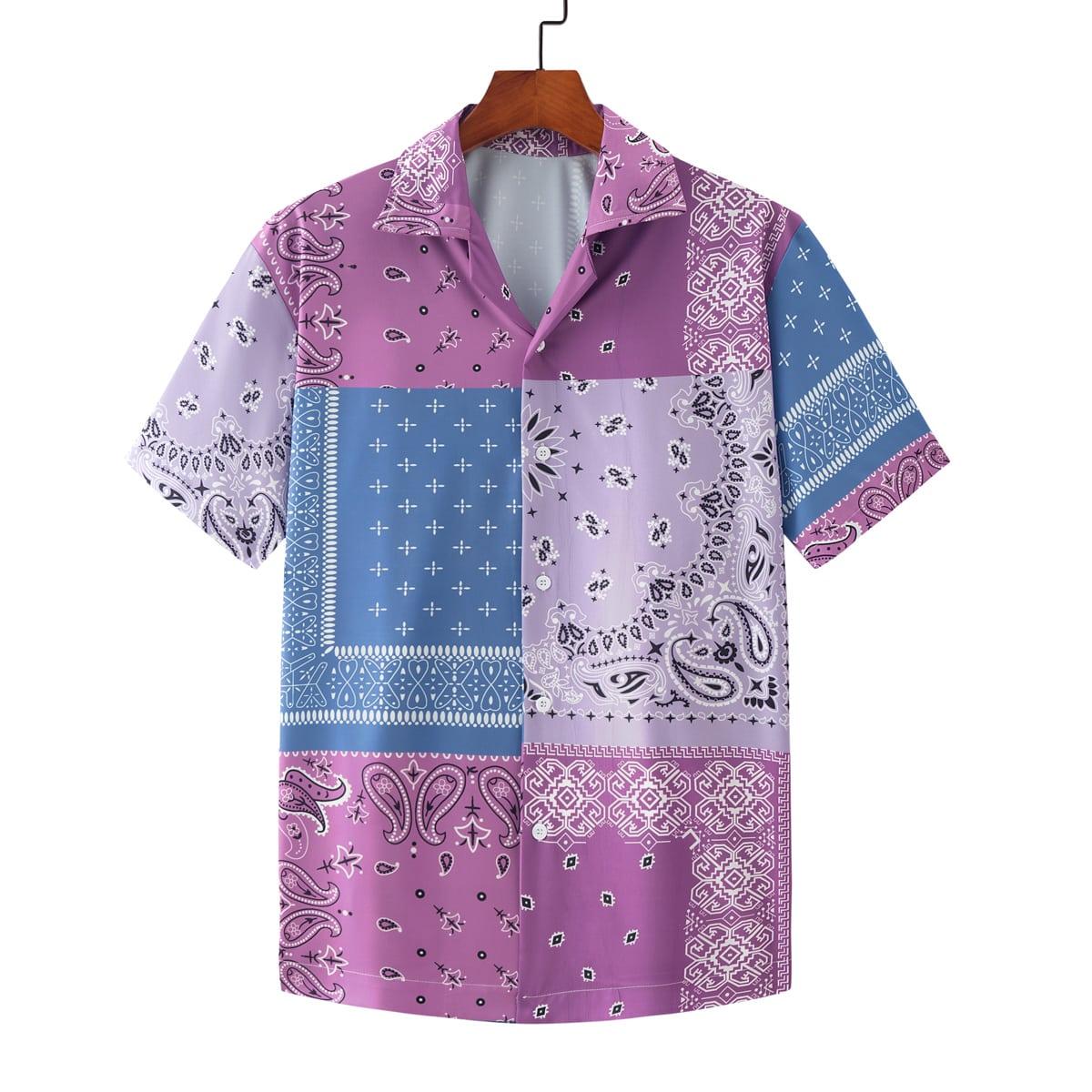 Camisa con estampado de pañuelo con paisley