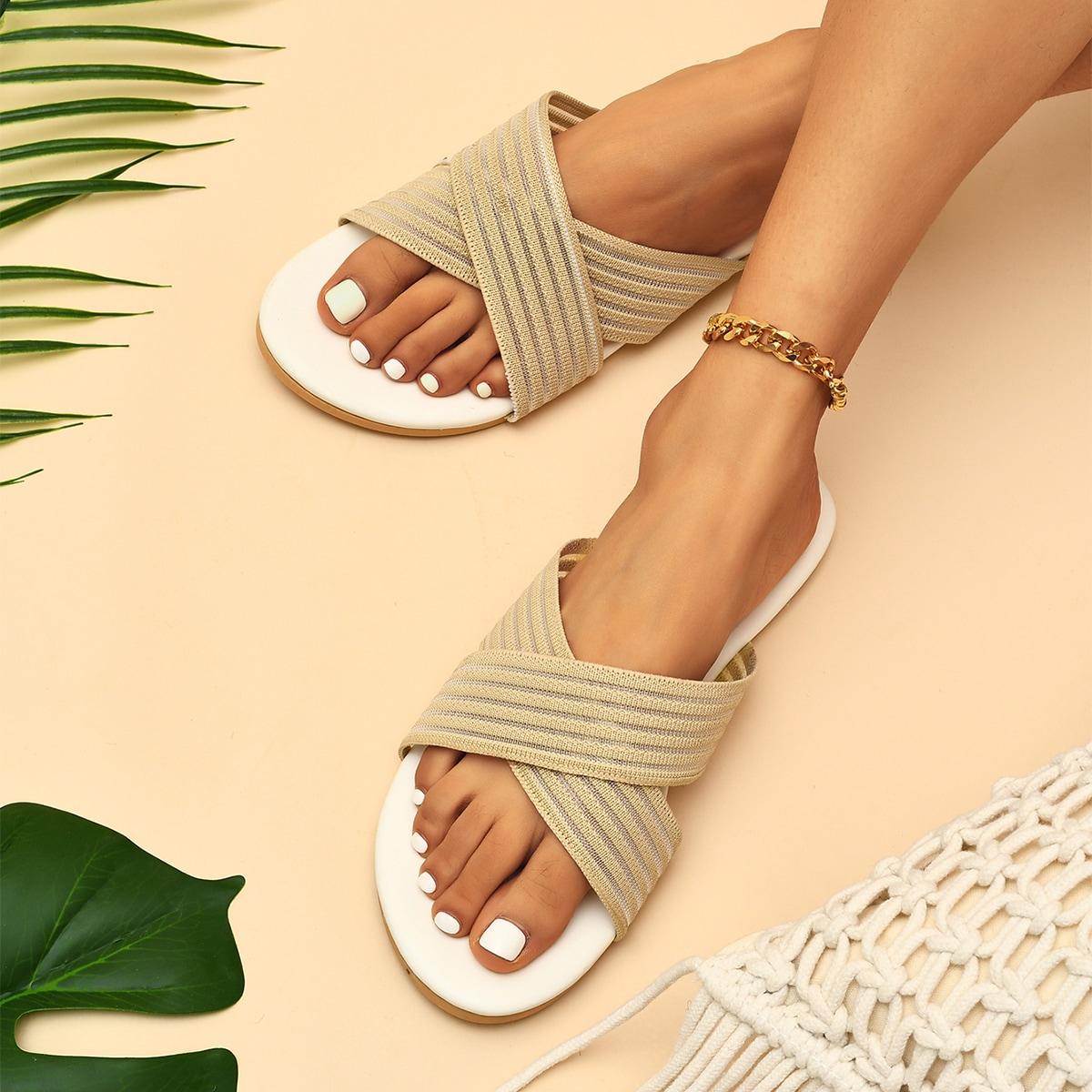 SHEIN Sandalen met gekruiste bandjes