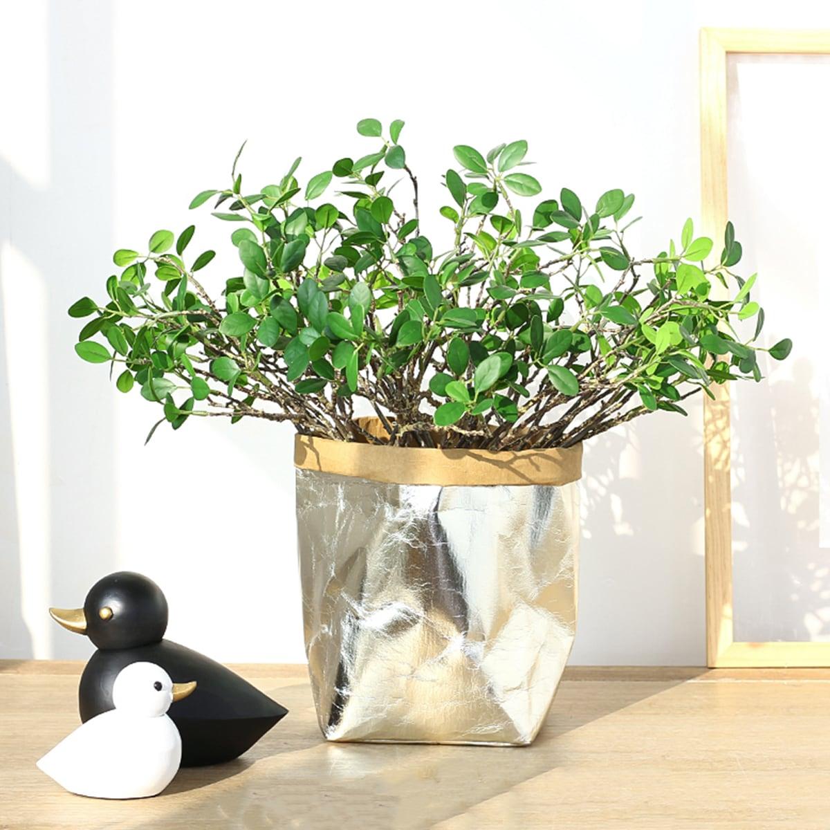 2 Zweige Künstliches Magnolienblatt