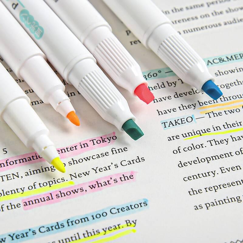 5pcs Random Highlighter Pen, Multicolor
