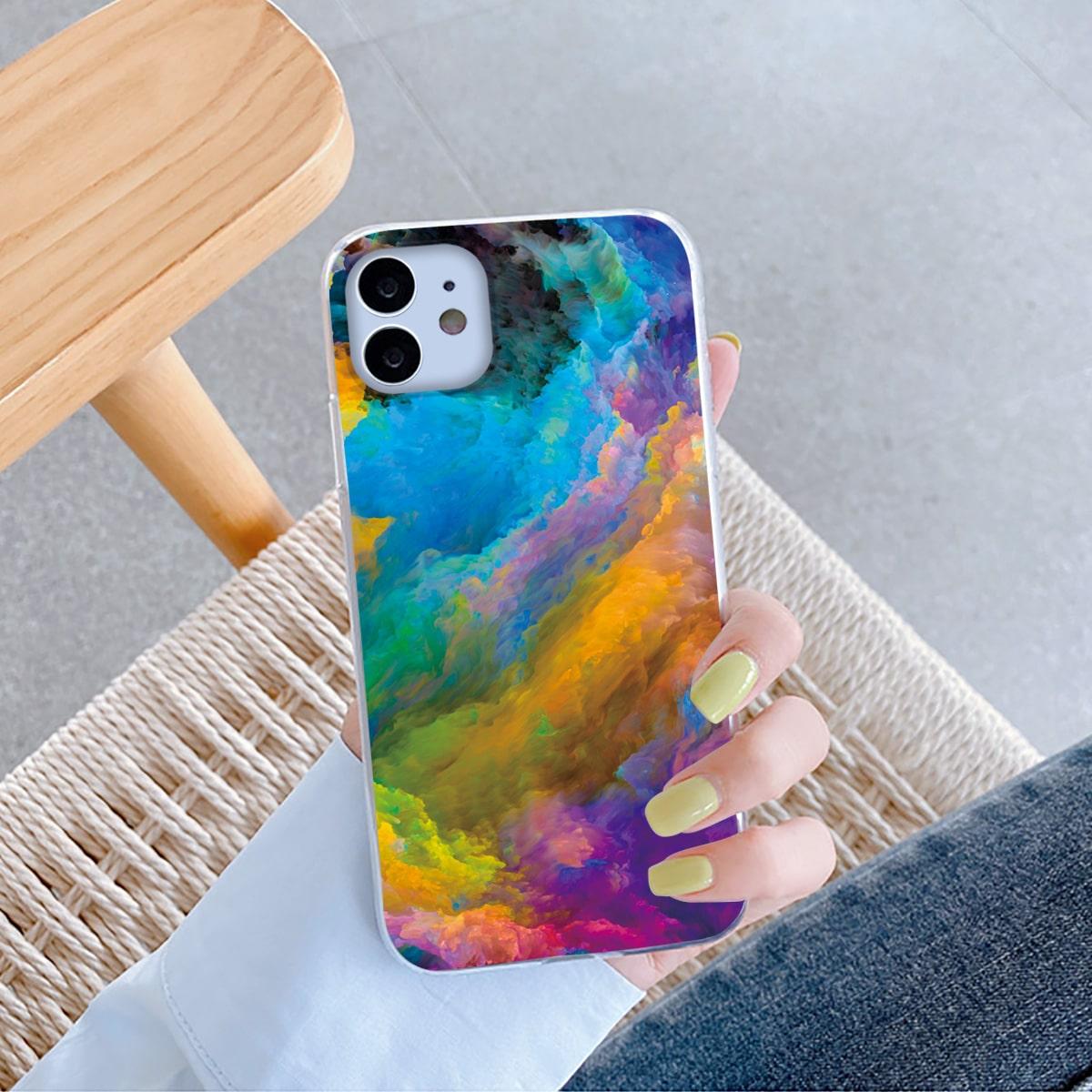 Custodia per telefono nuvola colorata