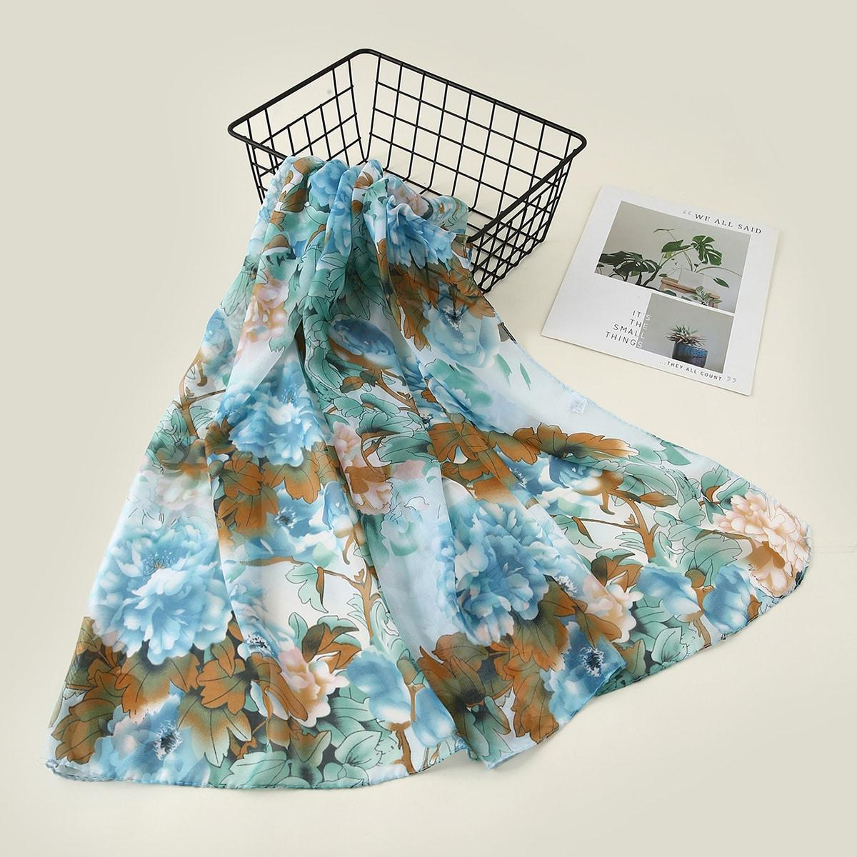 SHEIN Sjaal met bloemenprint
