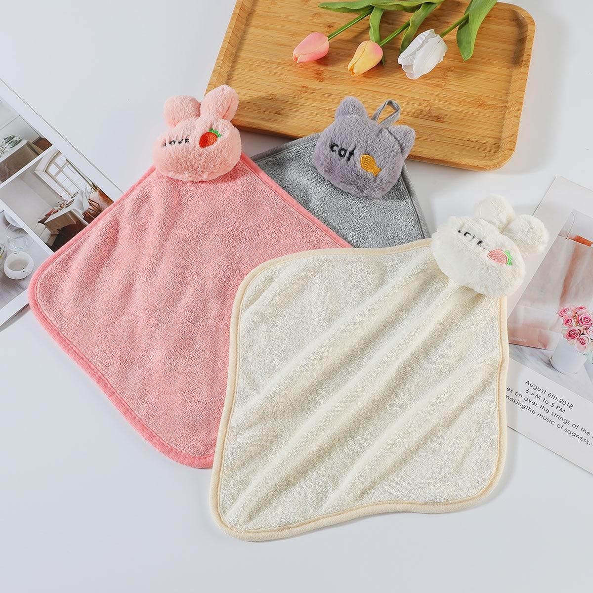 1Pc Random Embroidery Pattern Hand Towel