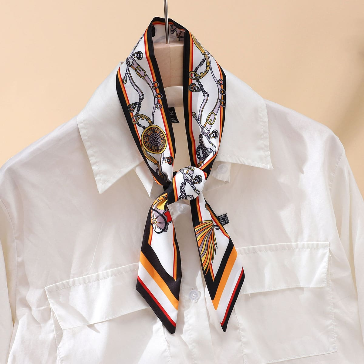 SHEIN Skinny sjaal met kettingprint