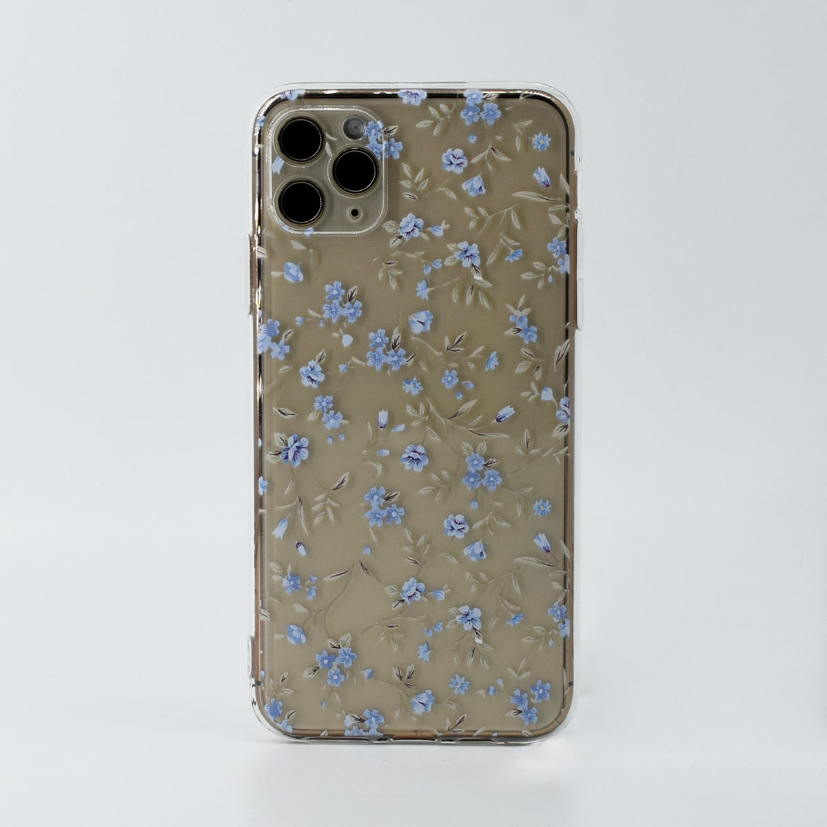 Floral Print Clear Phone Case