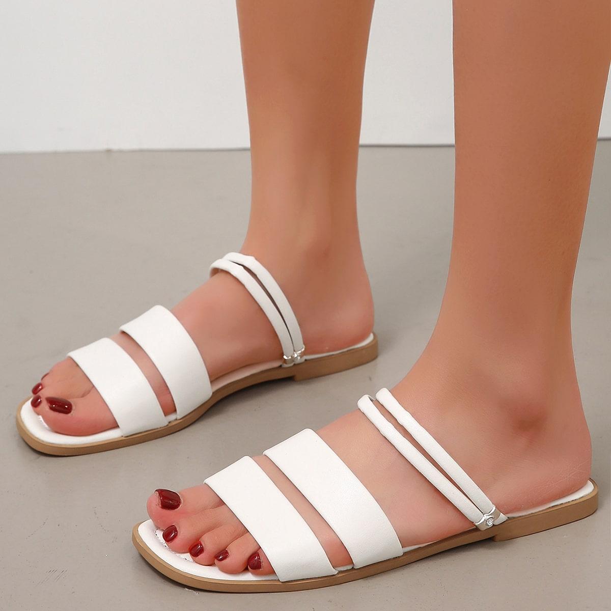 SHEIN Minimalistische bidirectionele sandalen