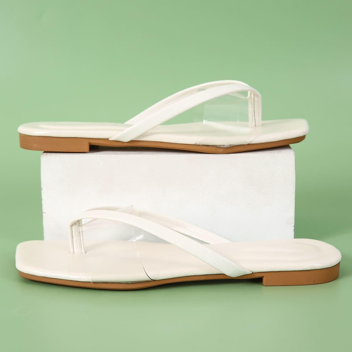 SHEIN Minimalistische Thong sandalen