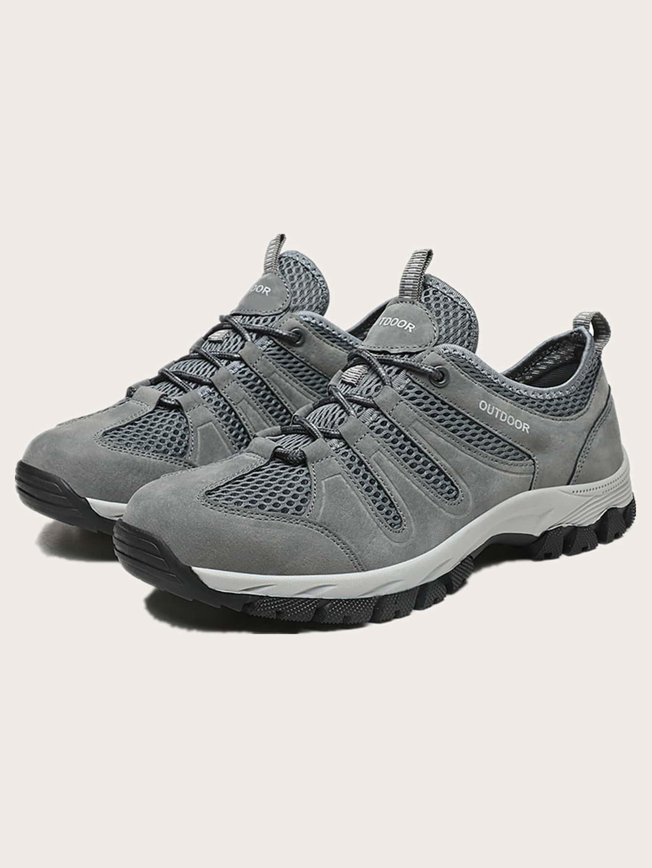 Men Mesh Panel Hiking Shoes