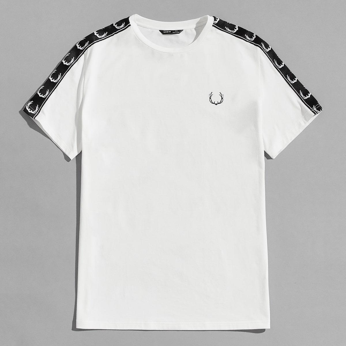 T-Shirt mit seitlichem Grafik-Band