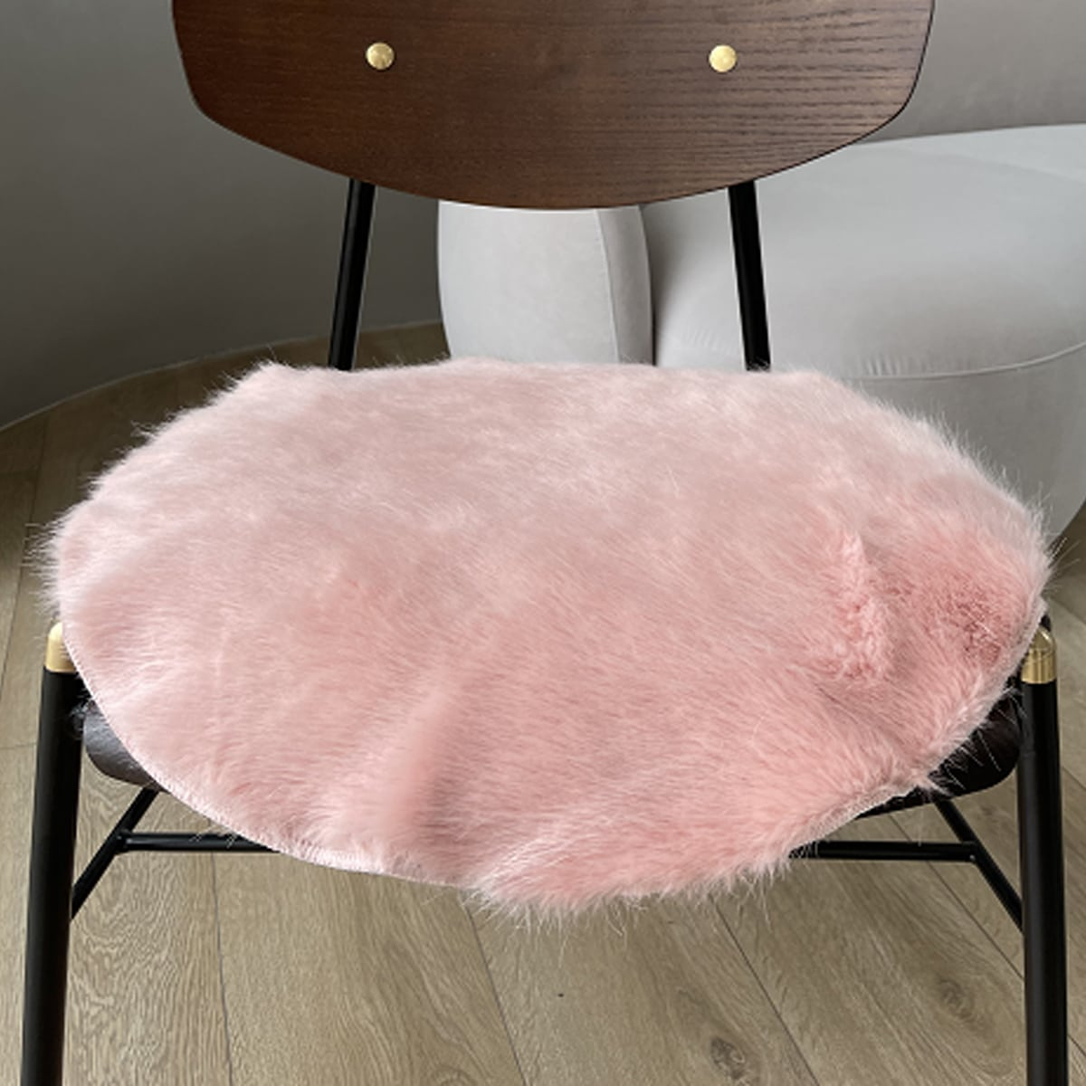 Flaumiger runder Teppich