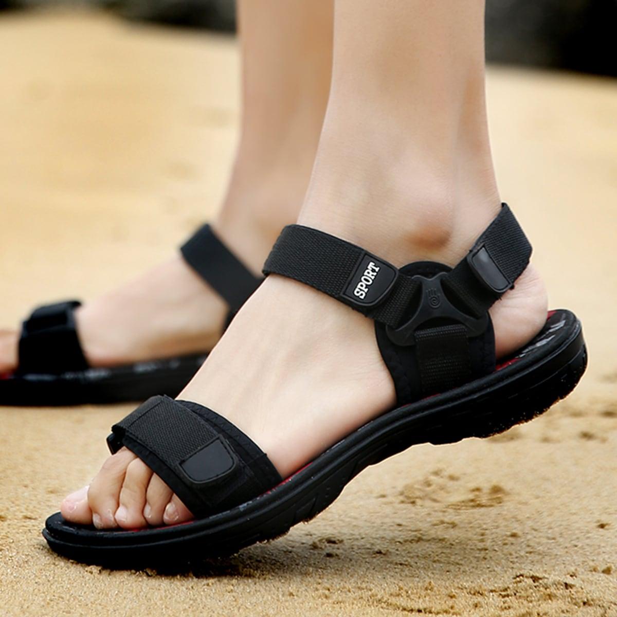 SHEIN Heren sport sandalen met klittenband