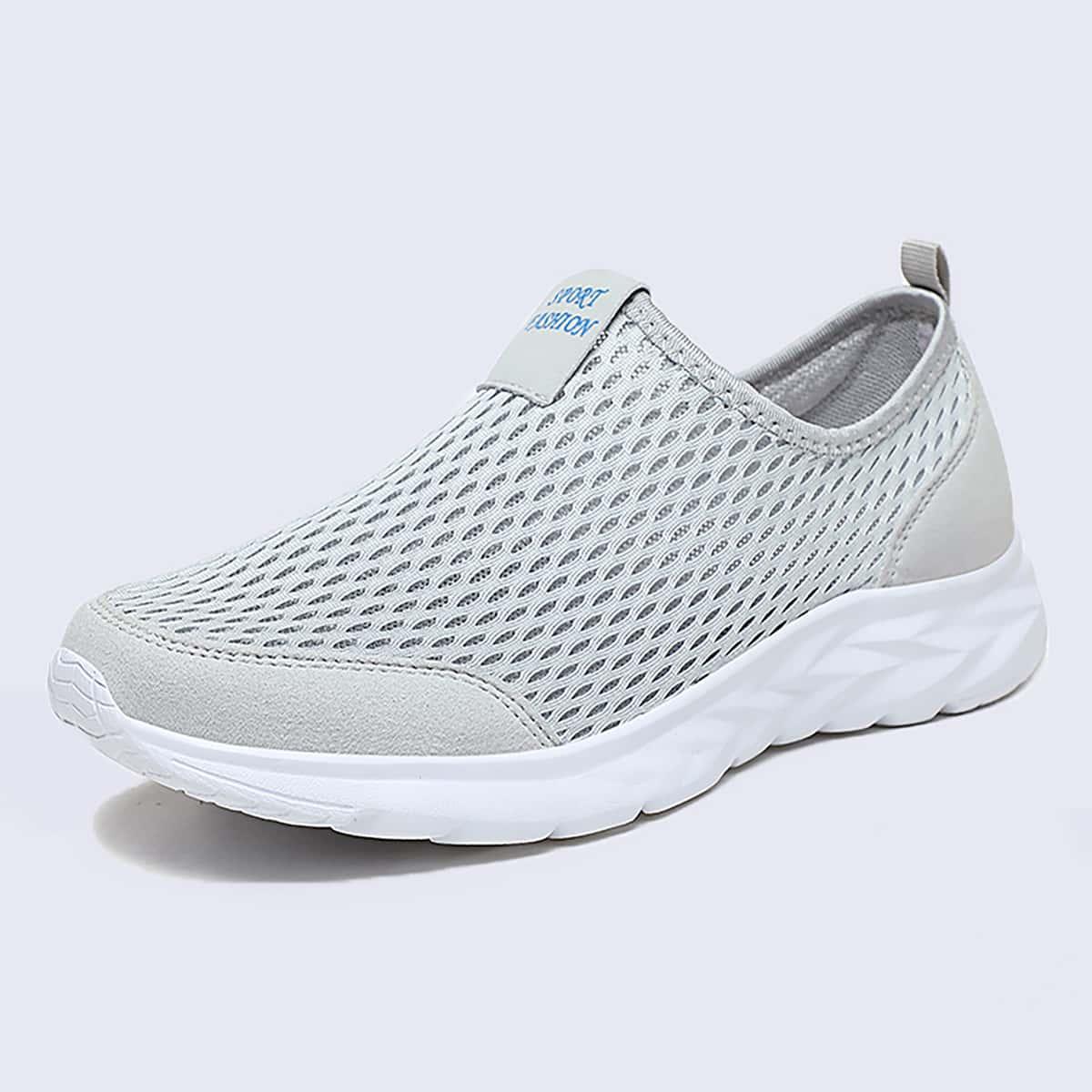 SHEIN Instapsneakers met mesh-inzetstuk voor heren