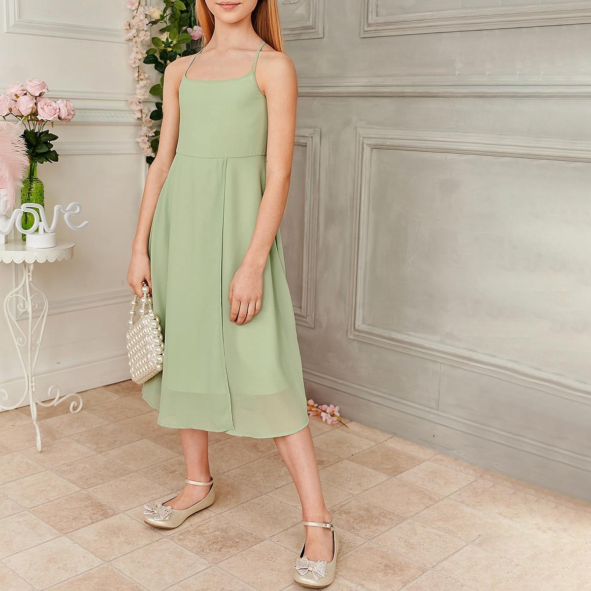 Cami Kleid mit Kreuzgurt hinten