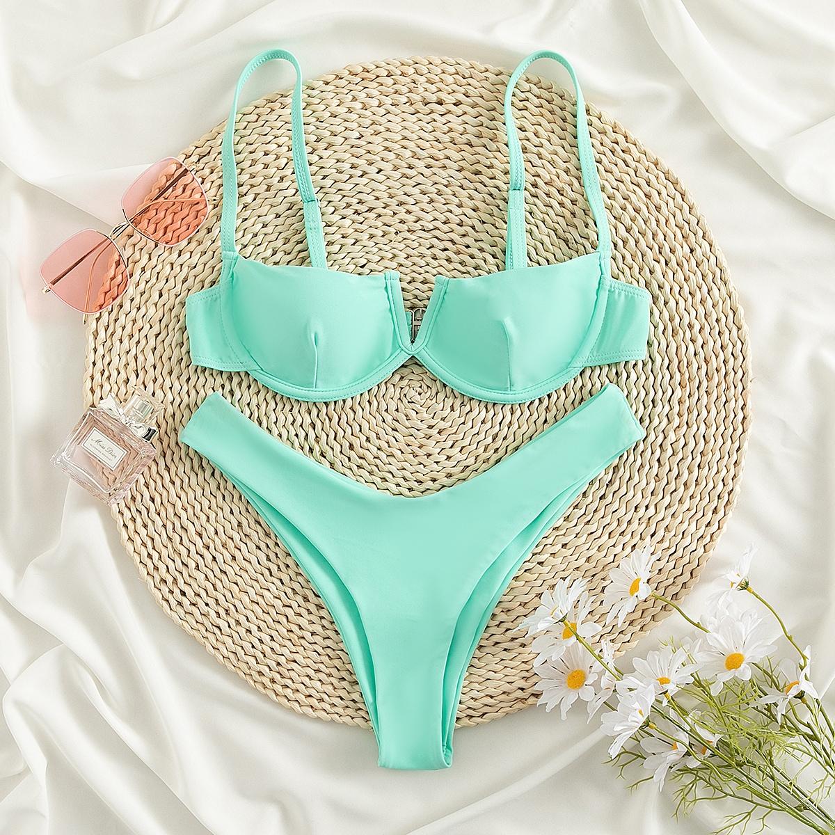 Bañador bikini con aro de corte V