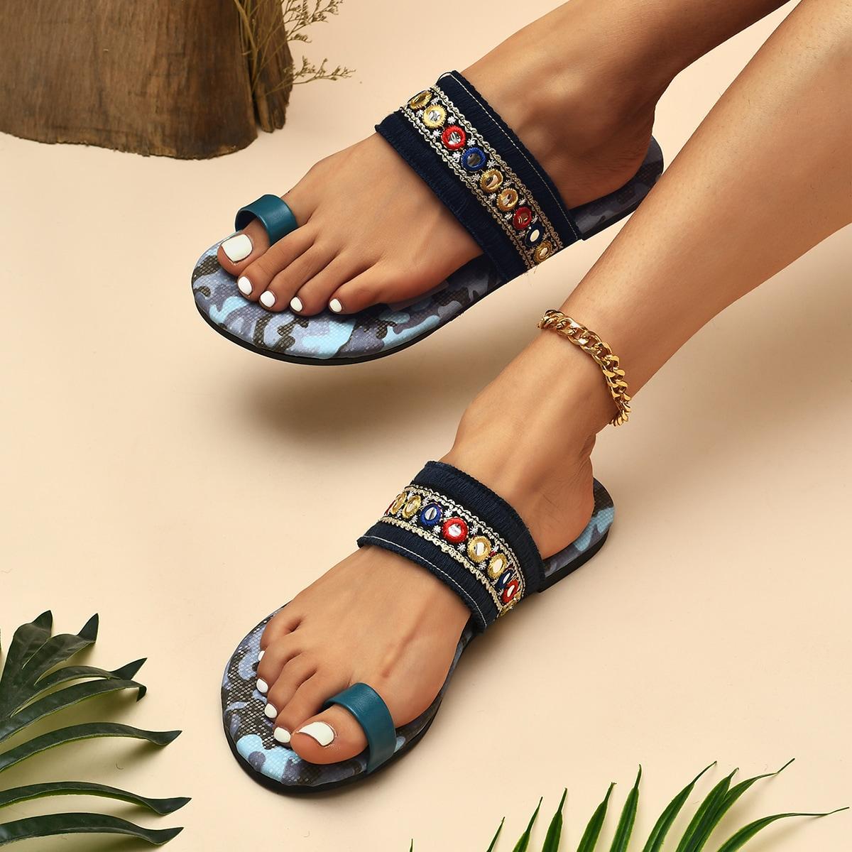 SHEIN Vakantie Geometrisch Sandalen
