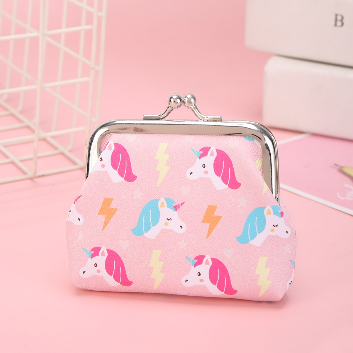 Mädchen Brieftasche mit Einhorn Muster