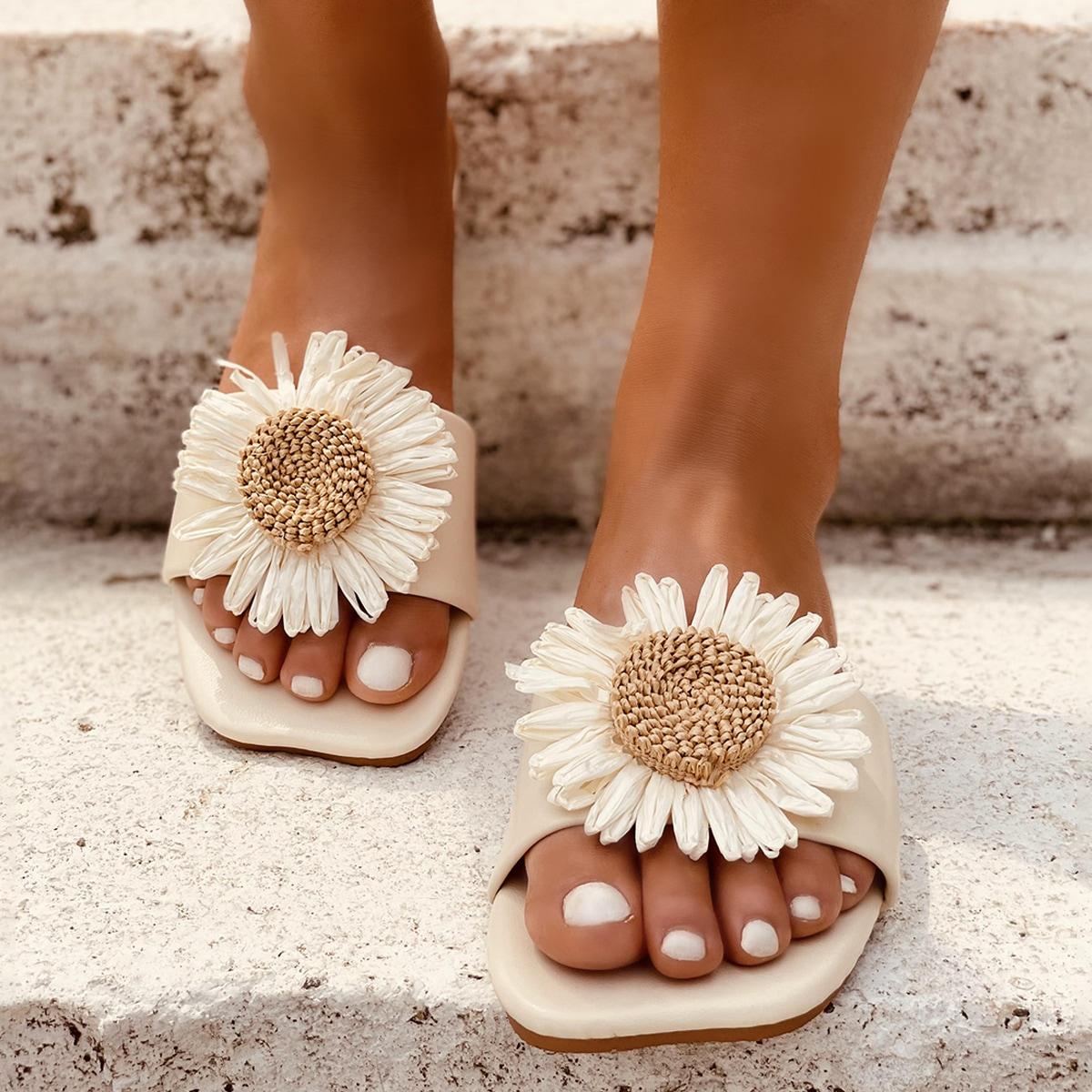 SHEIN Modieus Bloemen Sandalen