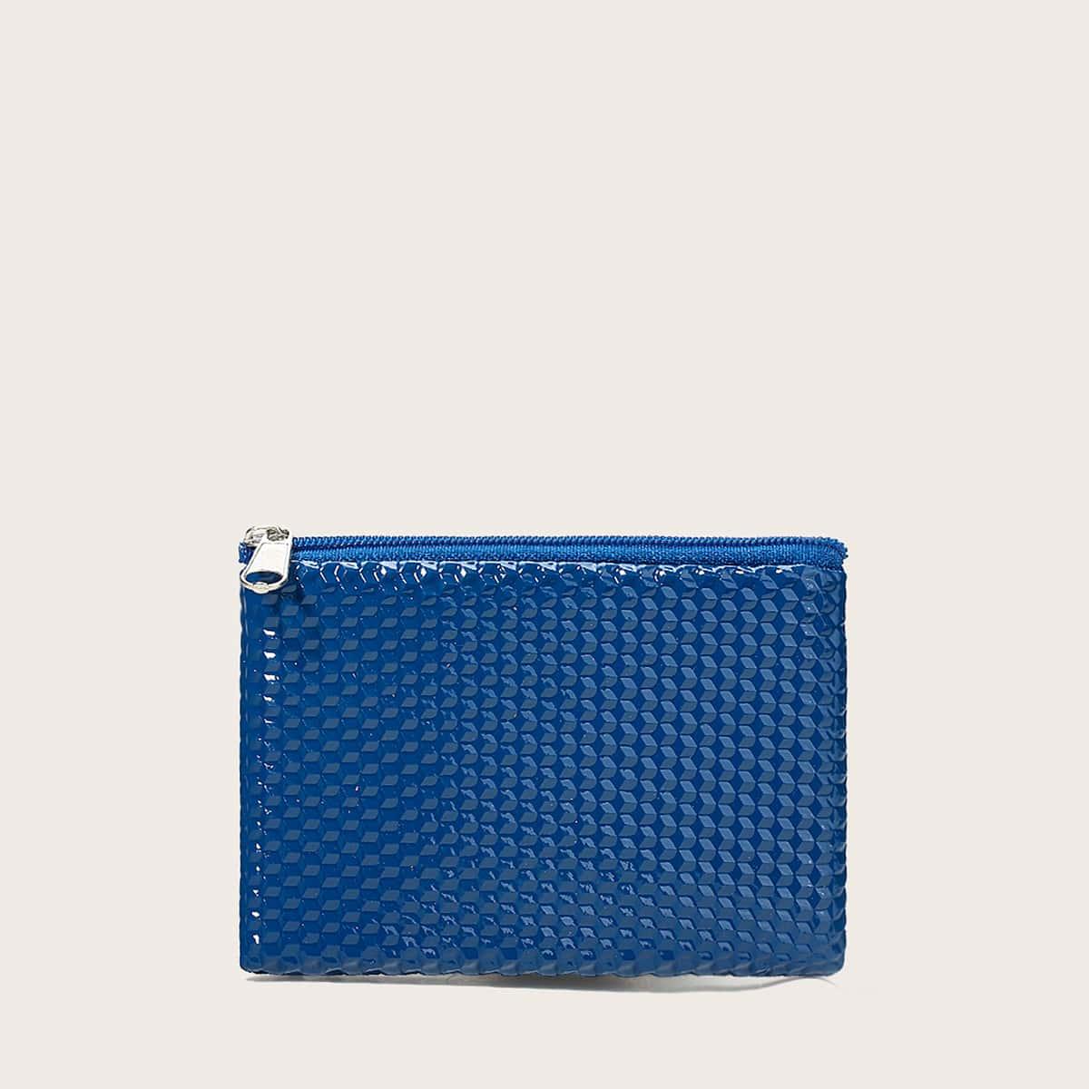 SHEIN Minimalistische getextureerde kleine portemonnee