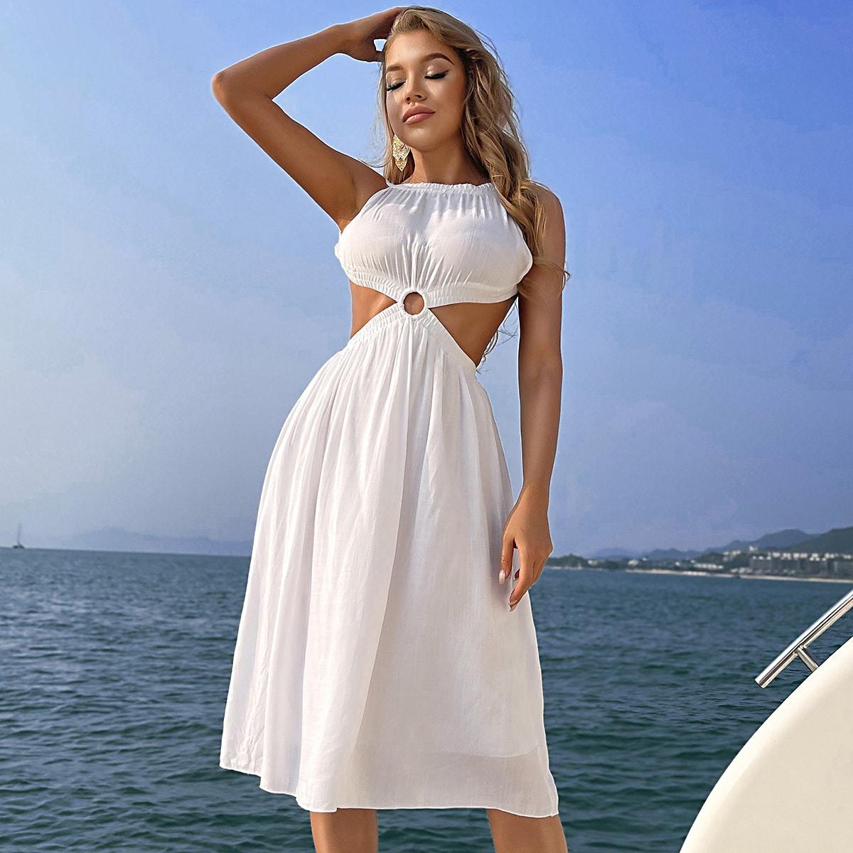 Платье с вырезом на спине SheIn swdress31210408105