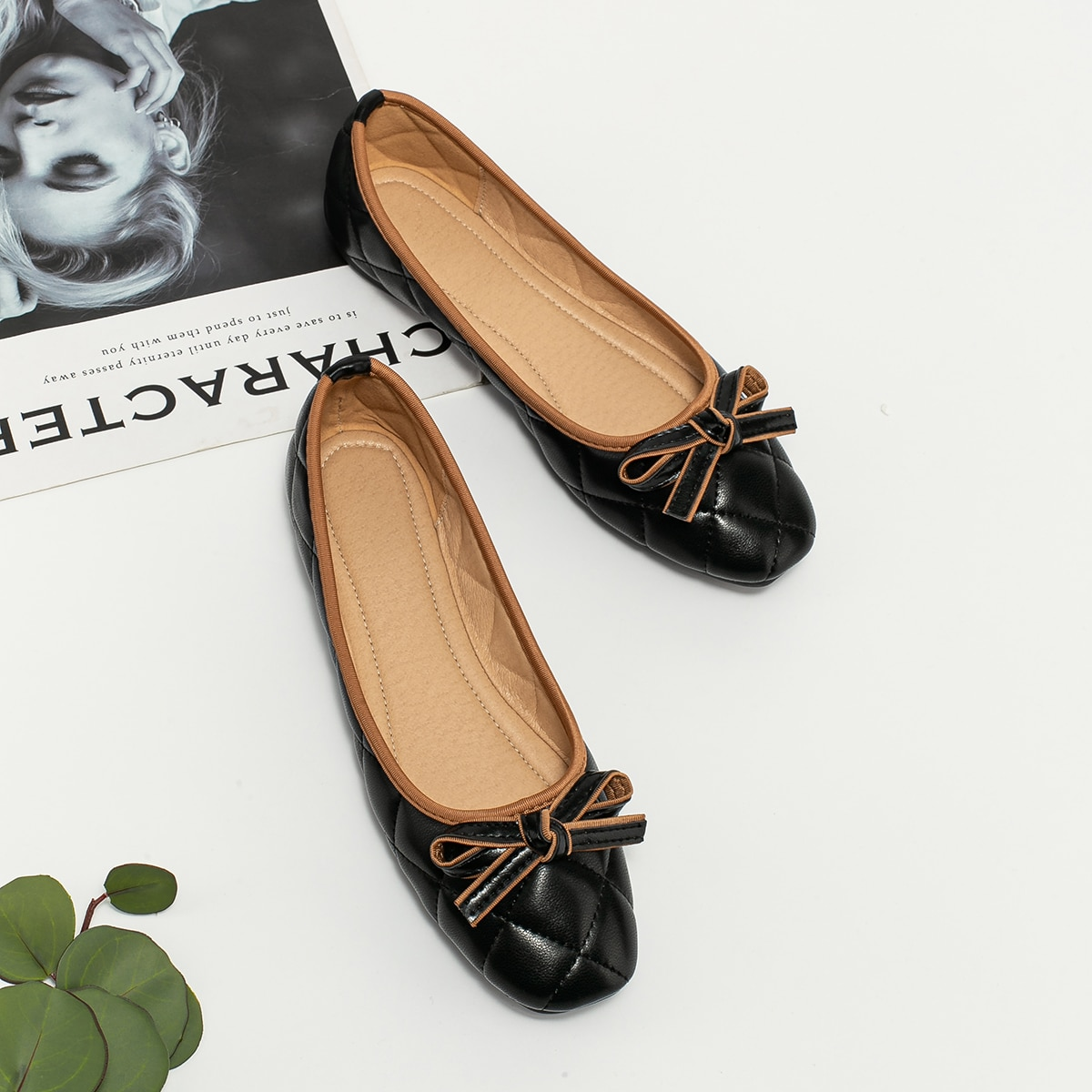 Zapatillas de ballet guateadas con lazo