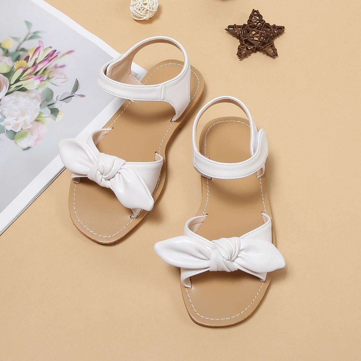 Girls Knot Decor Sandals