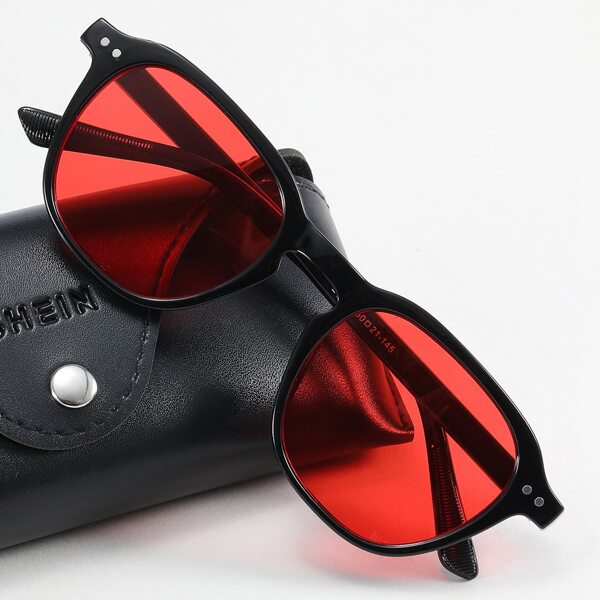 Men Tinted Lens Sunglasses, Red