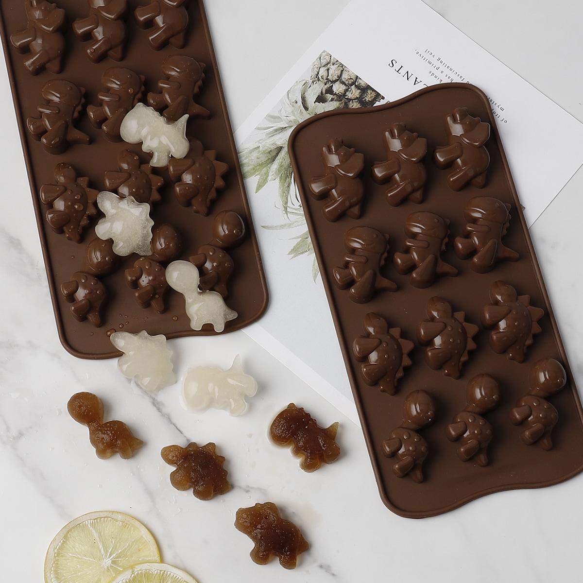 1pc Dinosaur Design Chocolate Mold