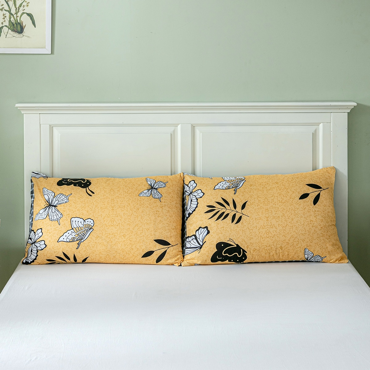 1Pair Flower Print Pillowcase Without Filler