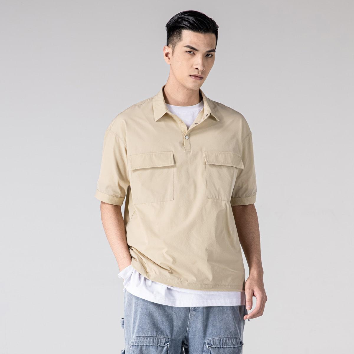 Мужской Рубашка с воротником-поло
