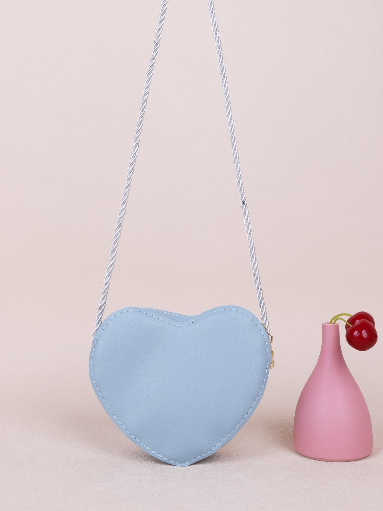 girls heart design crossbody bag