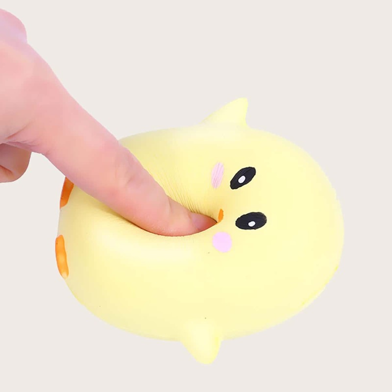 1pc Cartoon Stress Relief Squeeze Toy, Yellow