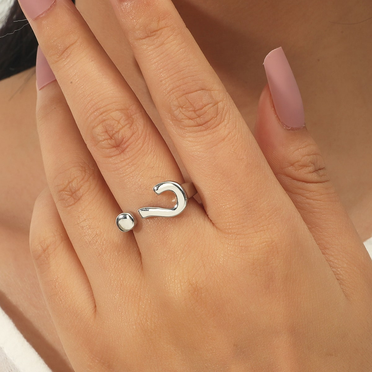 Question Mark Detail Ring