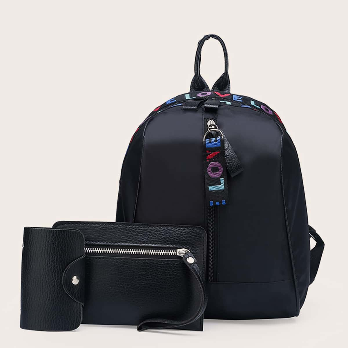 3шт Набор рюкзаков с молнией SheIn swbag18210412931