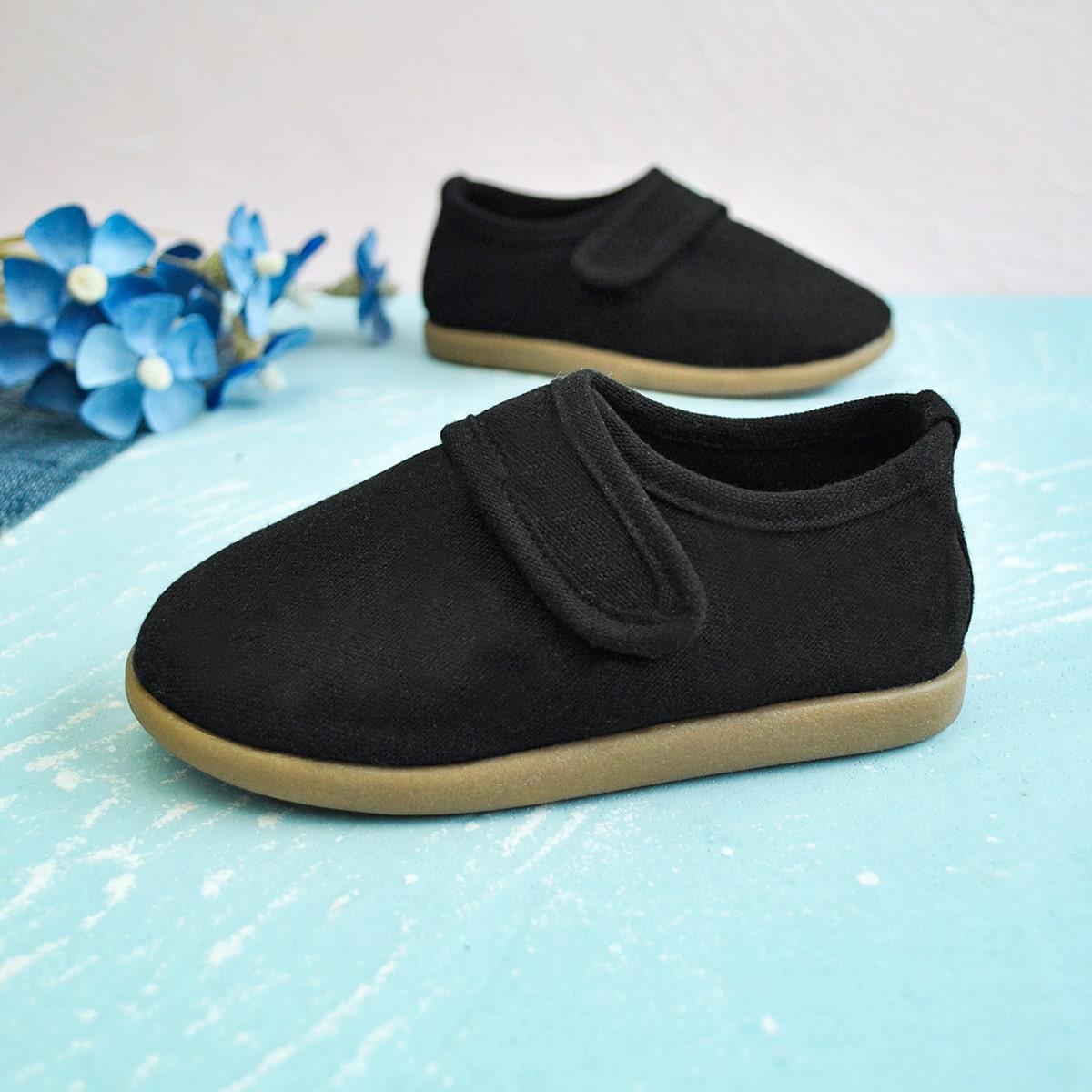 Холщовые туфли на липучке для мальчиков от SHEIN