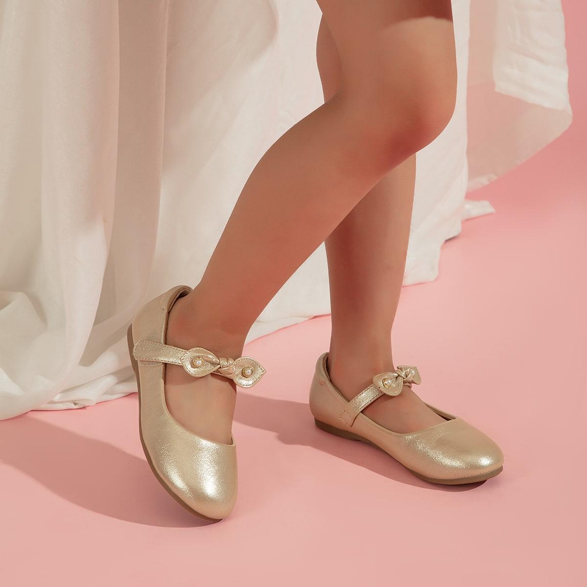 для девочек Балетки металлический с бантом SheIn skshoes25210412521