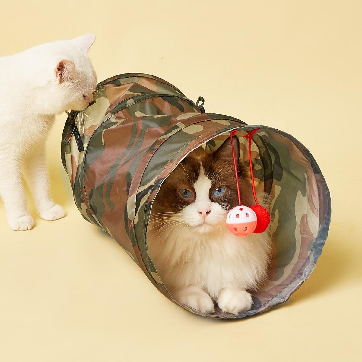 Katzentunnel-Spielzeug mit Camo Muster