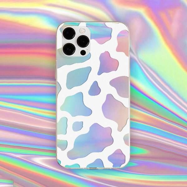 Cow Pattern Phone Case, Multicolor