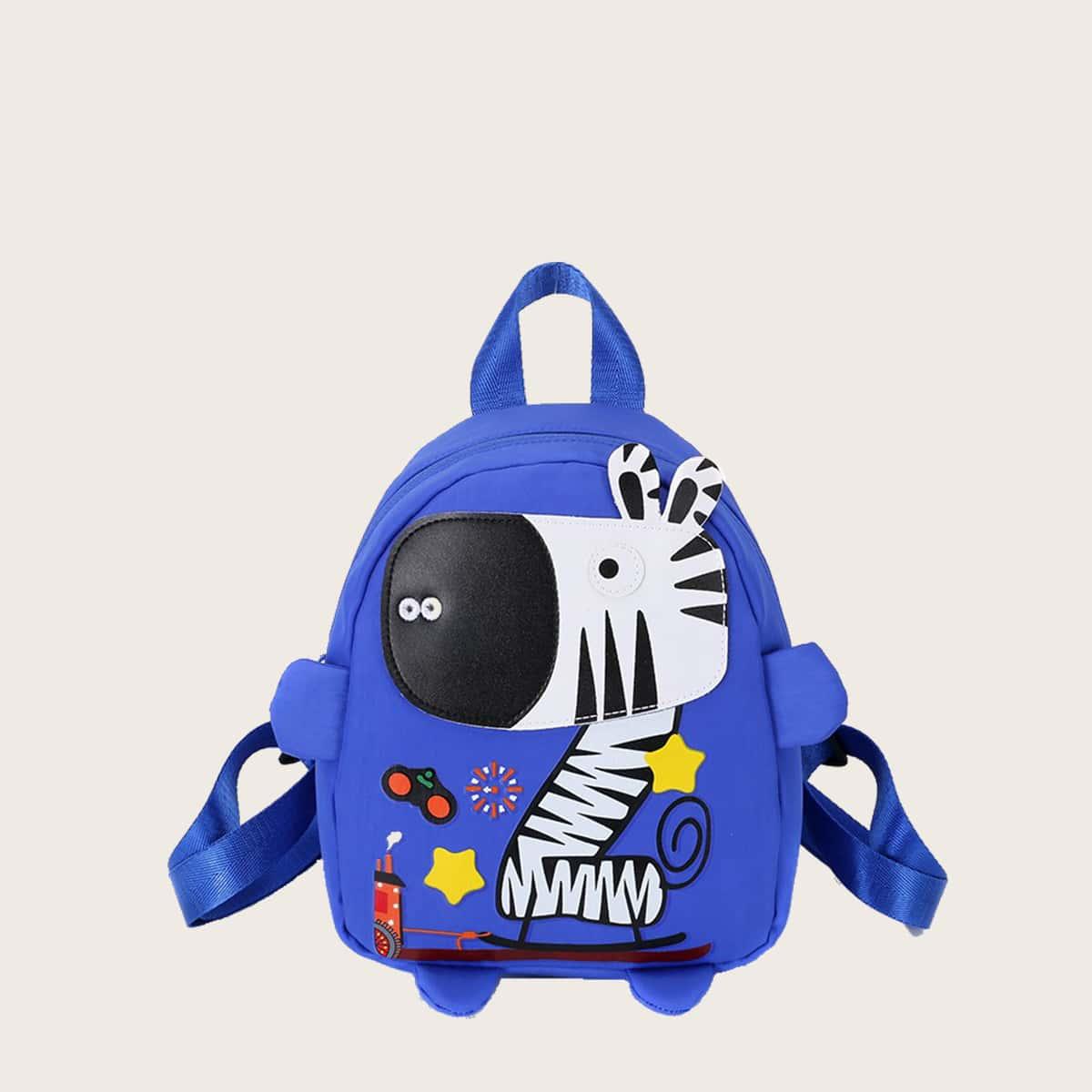 Рюкзак с узором зебры для мальчиков SheIn skbag18210413765