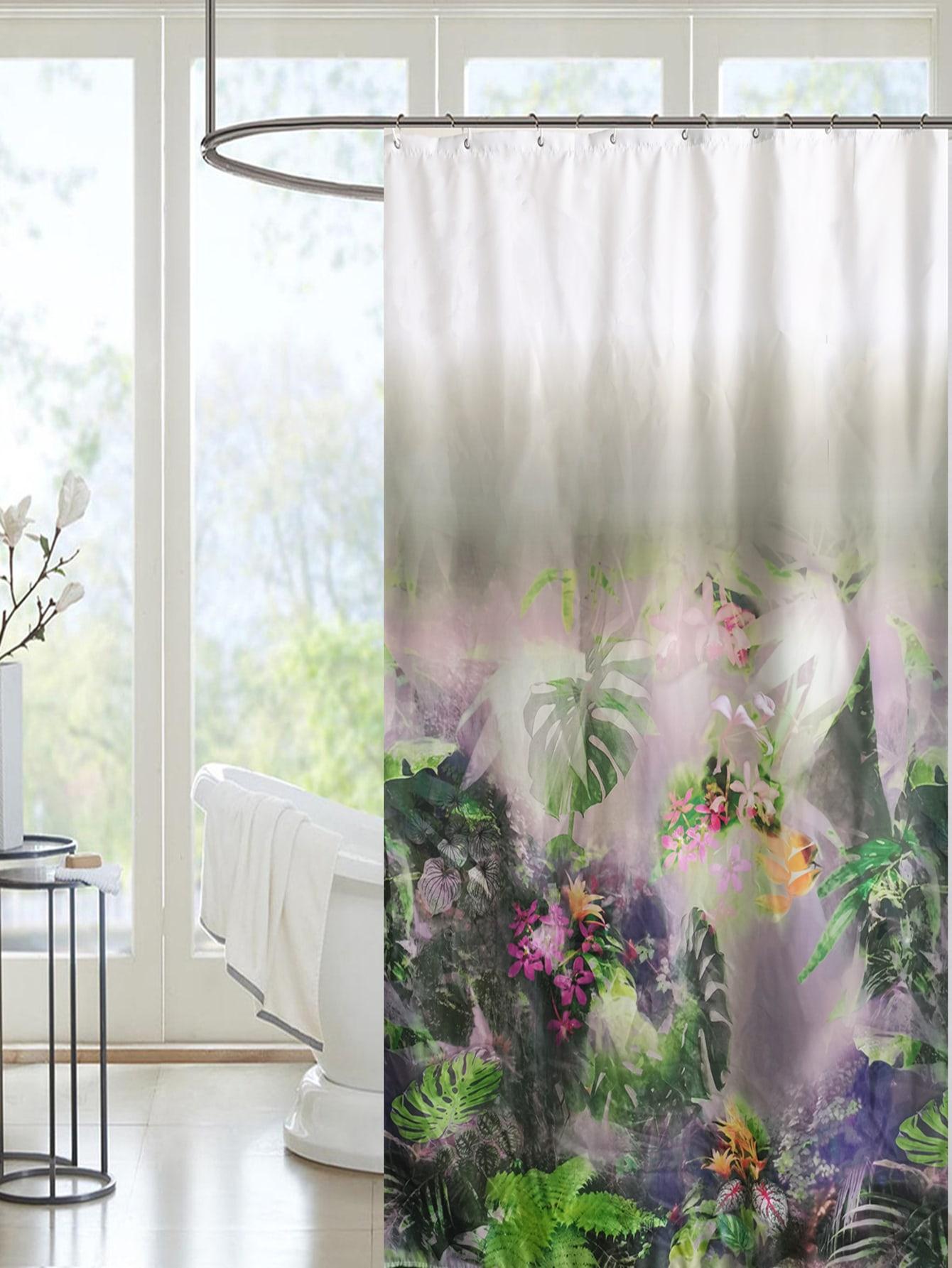 Plants Print Shower Curtain