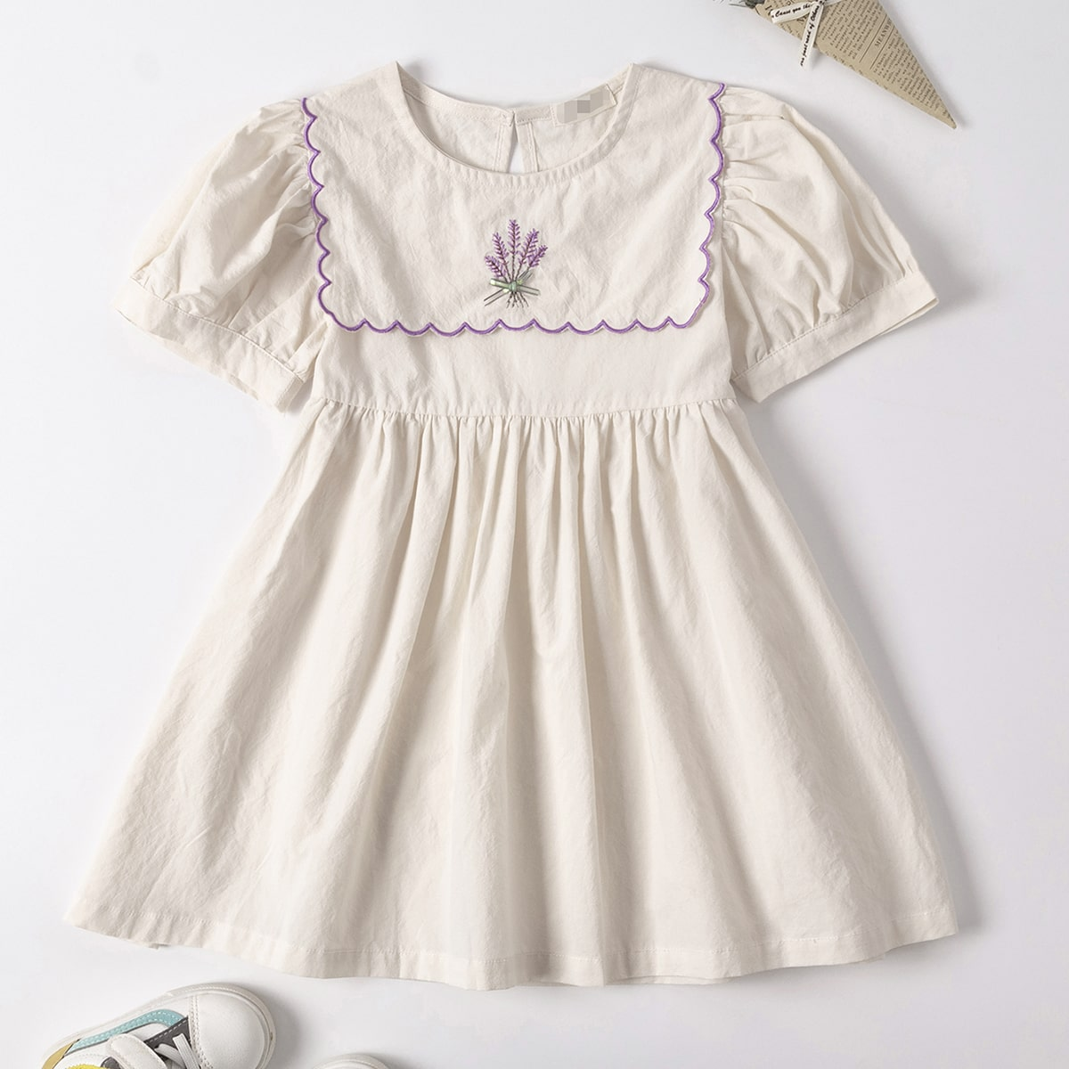 Robes fille Broderie Mignon Floral