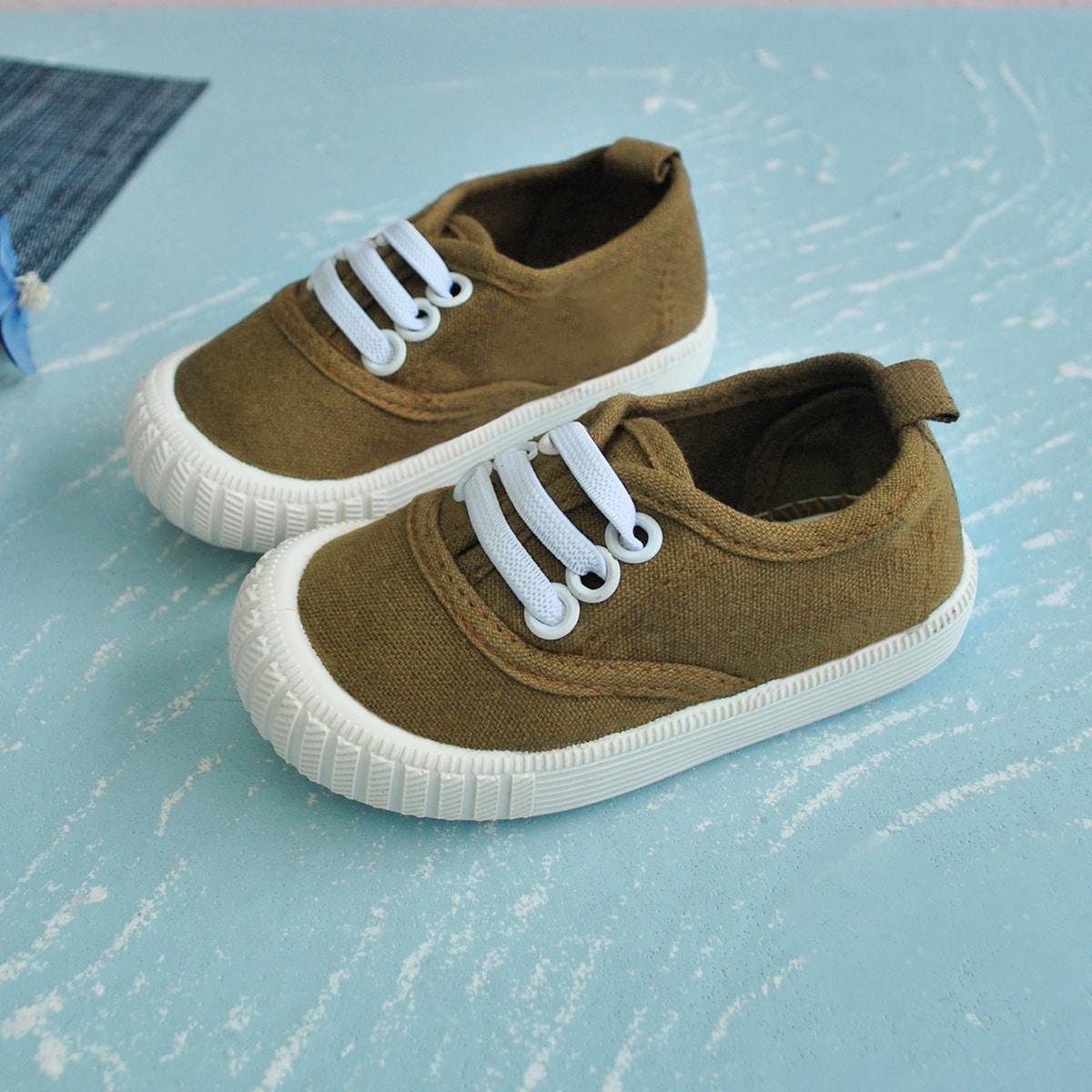 Холщовые туфли для мальчиков от SHEIN