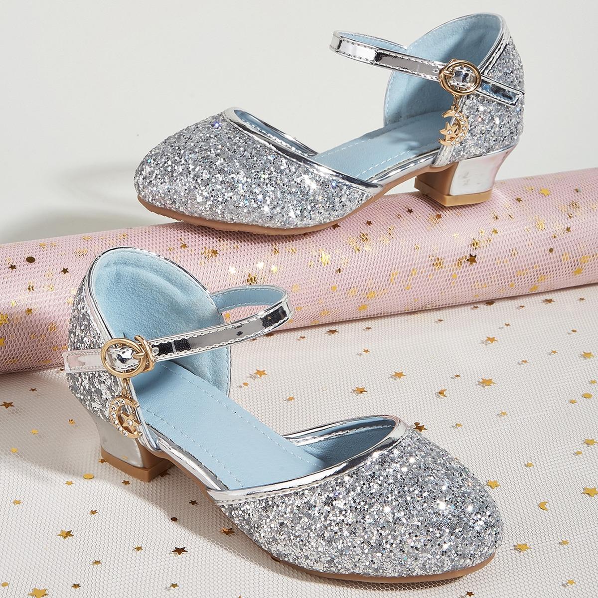 Блестящие балетки для девочек от SHEIN